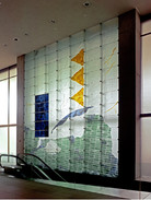 WARREN CARTHER  Carved glass wall  Canadian Embassy, Tokyo  25 x 22 ft.