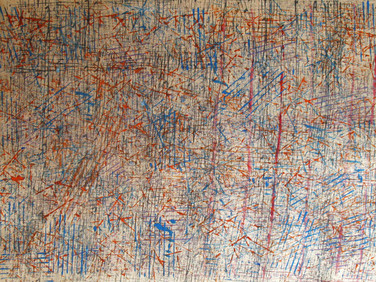 JAMES JUTHSTROM (1925-2007)  Untitled #123, circa 1960s  mixed media on paper 18.75 x 24 inches