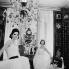 Douglas Kirkland  Mlle Chanel with models in her private apartment, House of Chanel 1962 [printed later]  archival pigment print, edition of 24, signed  paper size > 24 x 20 inches