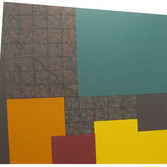 WILL INSLEY [1929-2011]  Wall Fragment 91.1, 1991 acrylic on masonite  48 x 52.25 inches