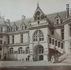 Séraphin-Médéric Mieusement (1840- 1905)  Château de Pierrefonds, Belfry Side, circa 1880s albumen print mounted on bookboard, inscribed, stamped  10.5 x 17 inches