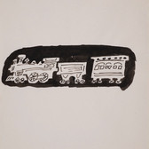 Untitled (Train 1), circa 1950s ink on paper, signed 11 x 8.5 inches
