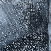 Agnieszka Zabawa,  Street Crowd, 2012 acrylic, wax, pencil on canvas, 30 x 40 inches