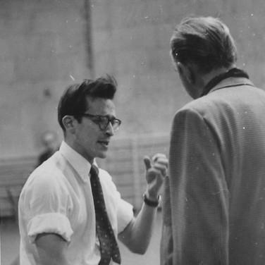 Roy Schatt [1909-2002]  Director Sidney Lumet directing Lorne Green  photograph 1953 [printed later]  Gelatin silver print, stamped,  7.8 x 9.8 inches  © Estate of Roy Schatt