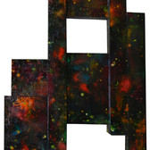 Charles Meyers [1934-2013]  Untitled [Constellations], circa 1970s  acrylic on panel  87 x 40 x 4 inches