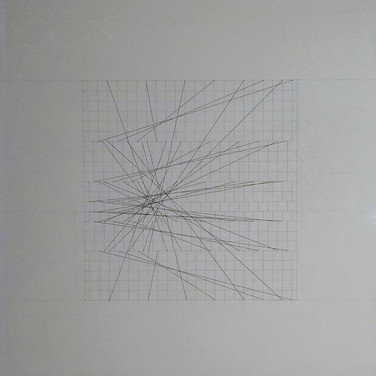 Will Insley (1929-2011) Slip Space Flip, 1969 pencil on cardboard, 30.25 x 30.25 inches