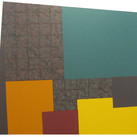 Will Insley (1929-2011) Wall Fragment No. 91.1, 1991 acrylic on masonite, 48 x 52.25 inches