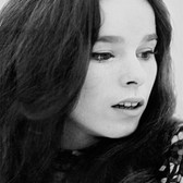 Photograph by Hatami (1928-2017) Geraldine Chaplin  photograph 1965  vintage gelatin silver print, signed, stamped 9 x 7 inches