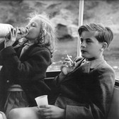 Princess Marianne Sayn-Wittgenstein-Sayn Yvonne and Alexander Sayn-Wittgenstein on board Bartholomé March's yacht, Majorca, Spain photo 1954 [printed later] Lambda print on Fuji Crystal paper, edition of 10, signed 22 x 22 inches