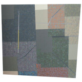 Will Insley [1929-2011] Wall Fragment No. 89.5, 1989 acrylic on masonite, 25.5 x 26 x 2 inches