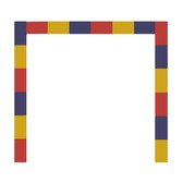 Will Insley [1929-2011] Wall Fragment No. 68.7, Ruler,1968 acrylic on masonite, 96 x 112 inches