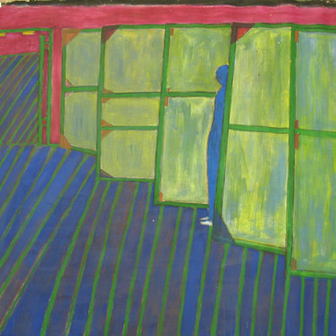 James Juthstrom (1925-2007) Untitled, circa 1990s acrylic on canvas 69 x 71 inches