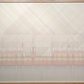 Will Insley (1929-2011) ONECITY Building Room, Section Red-Green Elevation, 1978-81 ink on ragboard 40 x 60 inches