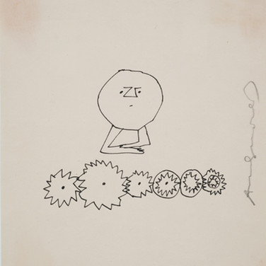 Untitled (Thinking 5), 1955-67 ink on paper [blotted ink technique], signed 9.25 x 8 inches