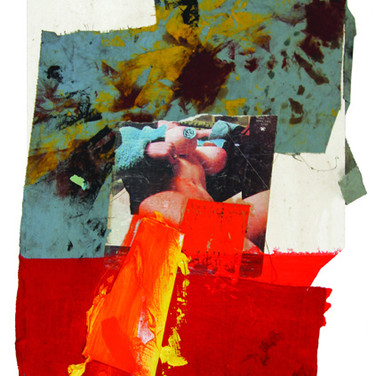 Boris Lurie (1924-2008) Untitled (Deliberate Pinup), circa 1975 collage, oil paint and paper on cardboard