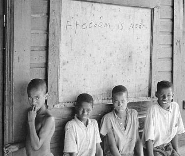 BOB ADELMAN (1931-2016) Writing on the wall, Alberta, Alabama photo 1965 [printed later]  gelatin silver print, edition of 15, signed, numbered  paper size > 16 x 20 inches