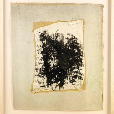 BORIS LURIE [1924-2008] Untitled, 1958 ink on paper, mounted on canvas, signed 21 ¾ x 19 ½ inches
