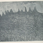 James Juthstrom [1925-2007] Untitled, circa 1950s etching on paper, paper size > 8.75 x 12 inches