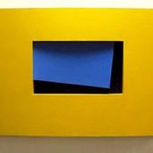 CHARLES HINMAN (b. 1932)  Beckett, 2006  paint on wood  47 x 70 x 8 inches