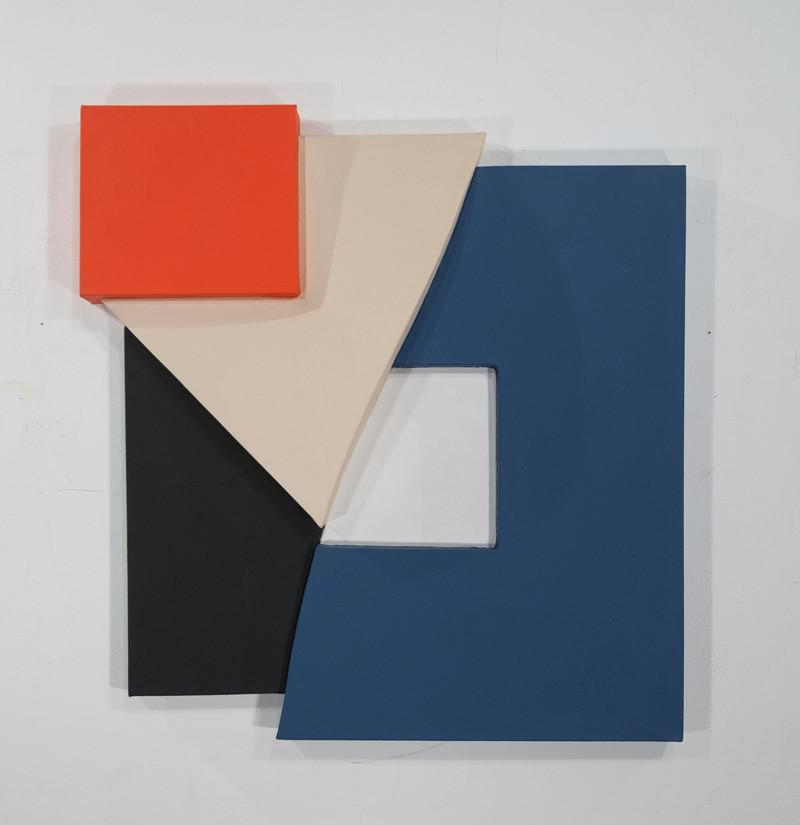 CHARLES HINMAN Beach Ridge, 1997 acrylic on shaped canvas Artwork: 37 x 35 x 6 inches | 94.0 x 88.9 x 15.2 cm
