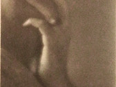 EDWARD WESTON  The Hand of E.M.  1921  vintage platinum print (heightened with gouache)  8 5/16 x 4 9/16 inches