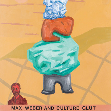 RON MOROSAN Max Weber and Culture Glut, 2013 oil on canvas 42 x 34 inches