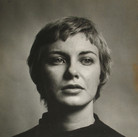 Roy Schatt [1909-2002]  Joanne Woodward.  Member of THE ACTORS STUDIO  photograph 1955  sepia toned vintage gelatin silver print, stamped  size > 15.25 x 12.25 inches  © Estate of Roy Schatt