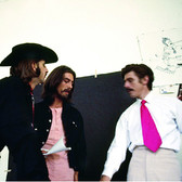 Douglas Kirkland  Ringo Starr and George Harrison at Apple Records, London  photo 1961 [printed later]  archival pigment print on watercolor paper, edition of 24, signed, numbered  paper size > 24 x 30 inches