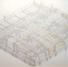 Will Insley [1929-2011]  Building Room Under-Building Isometric, 1978-82  ink on ragboard, 40 x 60 inches