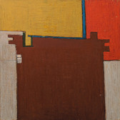 James Juthstrom (1925-2007) Untitled, circa 1960s oil on board 23.5 x 23.5 inches