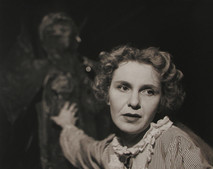 Geraldine Page staring forward and acting, 1955