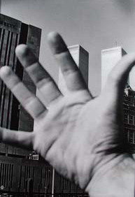 KLAUS RINKE  Lower Manhattan, World Trade Center  1975 (printed 2004)  gelatin silver print  55 x 39 inches