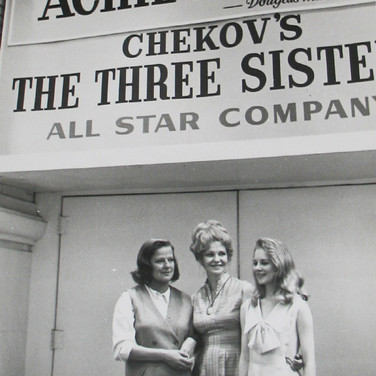 Roy Schatt [1909-2002] Shirley Knight, Geraldine Page and Kim Stanley in front of The Actors Studio Theatre photo 1953  gelatin silver print, stamped paper size > 14 x 11 inches © Estate of Roy Schatt