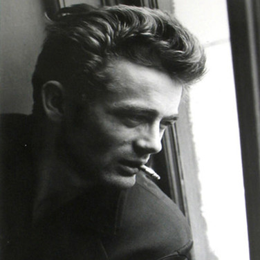 Roy Schatt [1909-2002]  James Dean in window with cigarette, ABC Studios, New York City  photo 1954 [printed later]  gelatin silver print, edition of 65, signed  paper size > 20 x 16 inches  photo Roy Schatt CMG