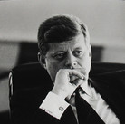 Jacques Lowe (1930-2001)  John F. Kennedy in the Oval office  photo March 1961 [printed later]  gelatin silver print, AP  paper size > 16 x 20 inches