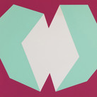 Charles Hinman Green on Burgundy, 1972  silkscreen on embossed paper, edition of 200, signed, stamped  25.5 x 34.25 inches