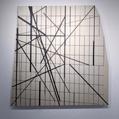 WILL INSLEY (1929-2011) Wall Fragment No. 94.7, 1994 acrylic on masonite 80 x 80 x 3 inches