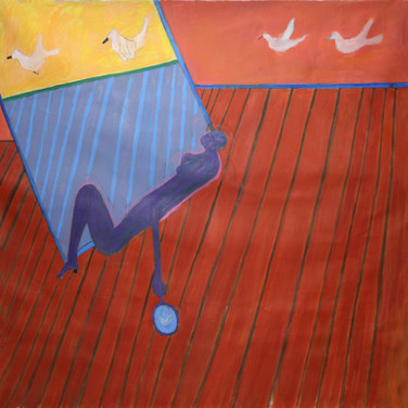 James Juthstrom (1925-2007) Untitled, circa 1990s acrylic on canvas 62 x 62 inches