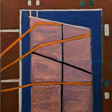James Juthstrom (1925-2007) Untitled, circa 1970s oil on board 23 x 24 inches