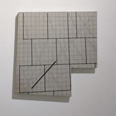 WILL INSLEY (1929-2011) Wall Fragment No. 90.7, 1990 acrylic on masonite 25 x 26.5 inches