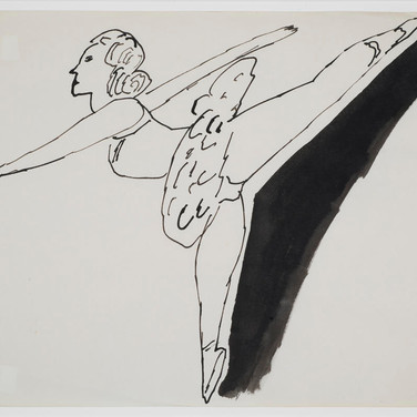 Andy Warhol  Untitled 1955-67  ink on paper, signed, 8.5 x 11 inches