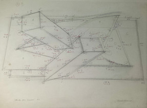 CHARLES HINMAN (b. 1932)  Study for Sensor, 1982  graphite on paper  19 x 25 inches