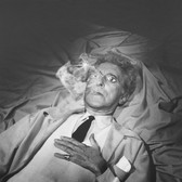 Lucien Clergue [1934-2014] Jean Cocteau in the Testament of Orpheus, Les Baux de Provence photo 1959 [printed 1983] gelatin silver print, edition of 30 PF, signed paper size > 16 x 20
