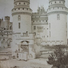 Séraphin-Médéric Mieusement (1840- 1905)  Entry to Château de Pierrefonds, circa 1880s   albumen print mounted on bookboard, inscribed, stamped  17 x 10.5 inches