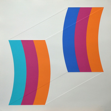 Charles Hinman Double Kite, 1970 silkscreen on embossed paper, edition of 100 26 x 26 inches