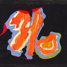Boris Lurie (1924-2008) NO on Plastic, 1966-69 oil paint on unstretched canvas 28.5 x 35 inches