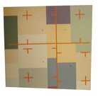 Will Insley (1929-2011) Wall Fragment No. 86.1, 1986 acrylic on masonite, 24 x 24 inches