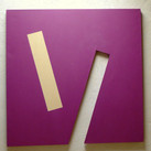 Charles Hinman Plum Bars, 1969  acrylic on shaped canvas  72 x 72 in