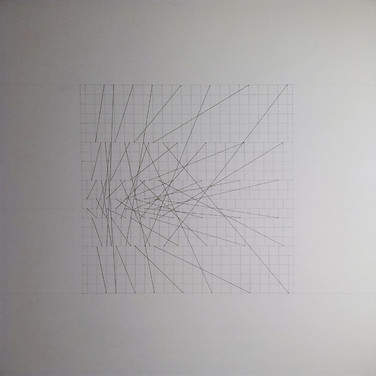 Will Insley (1929-2011) Slip Space Double, 1969 pencil on cardboard, 30.25 x 30.25 inches