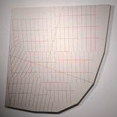 WILL INSLEY (1929-2011) Wall Fragment No. 96.2, 1996 acrylic on masonite 84 x 81 x 4 inches
